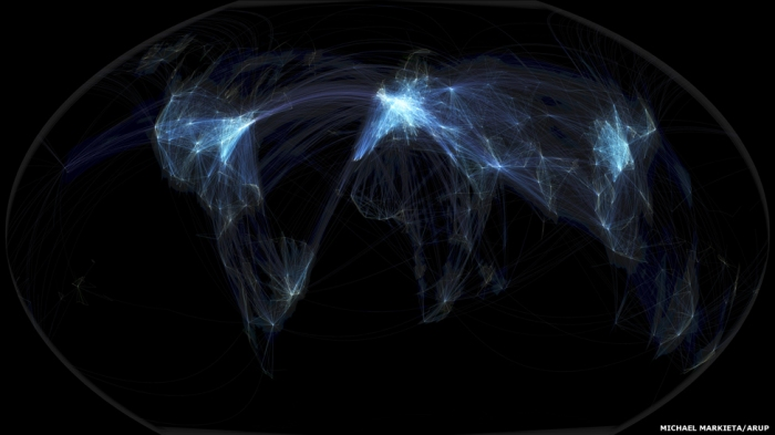 Global Flight Paths image by Michael Markieta