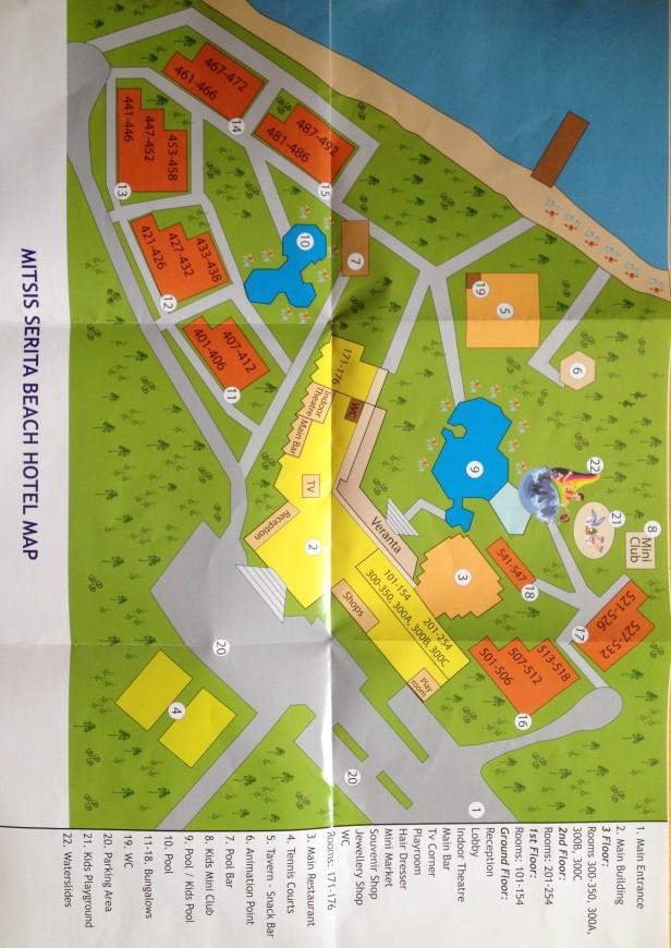 Map of Mitsis Serita Beach Hotel
