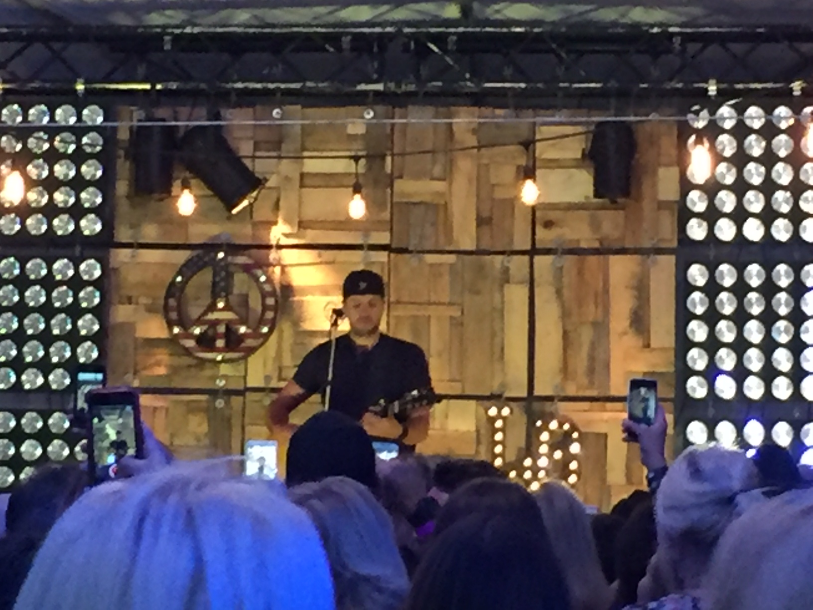 Luke bryan after luke came off stage the vip crowd were led to the main amphitheatre the place is huge and mostly open to the elements im not sure what happens if m4hsunfo