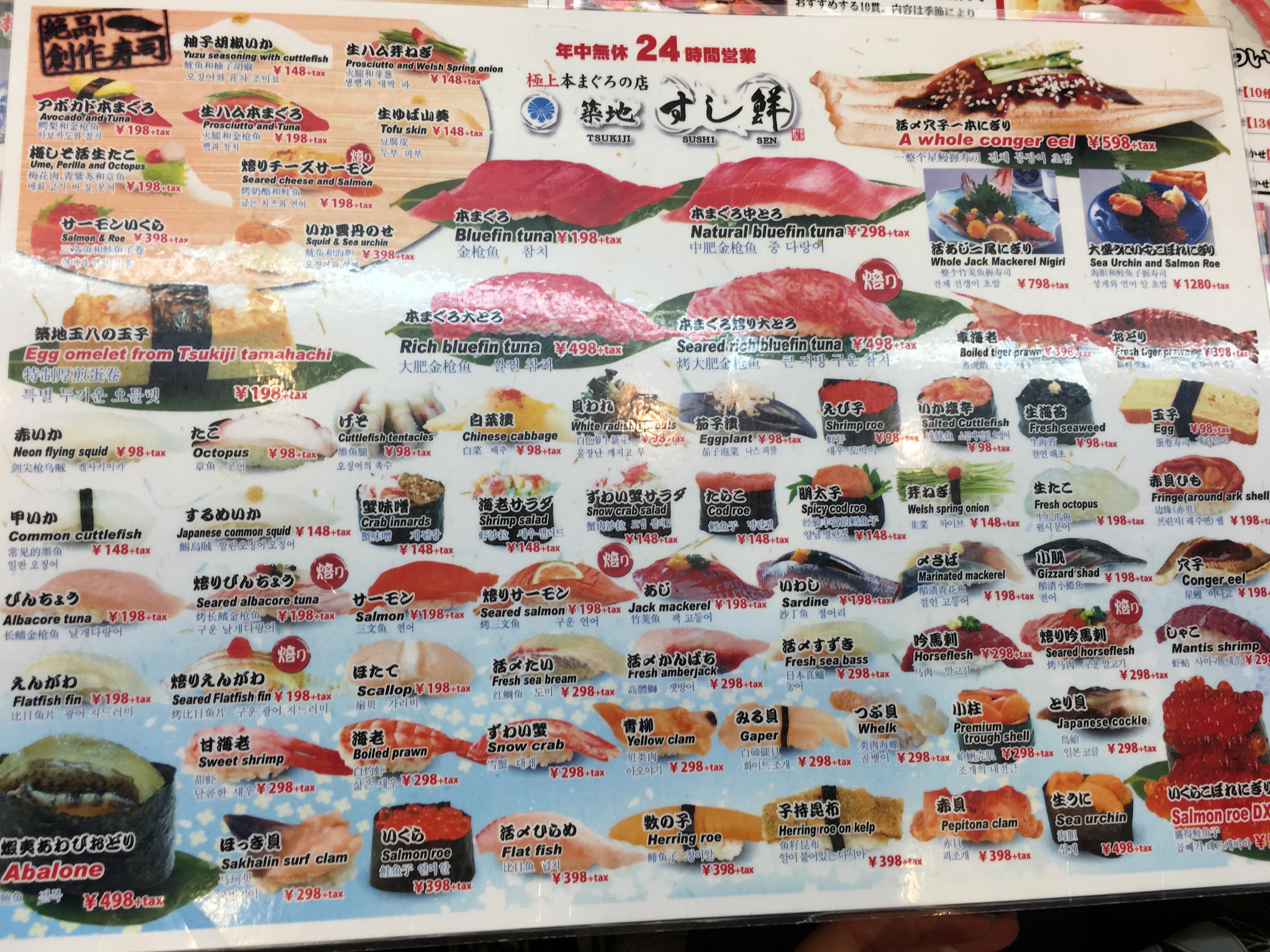 Market for Little fish menu